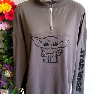 Star Wars Baby Yoda zip sweatshirt XXL